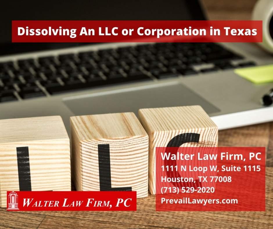 Dissolving an LLC in Texas